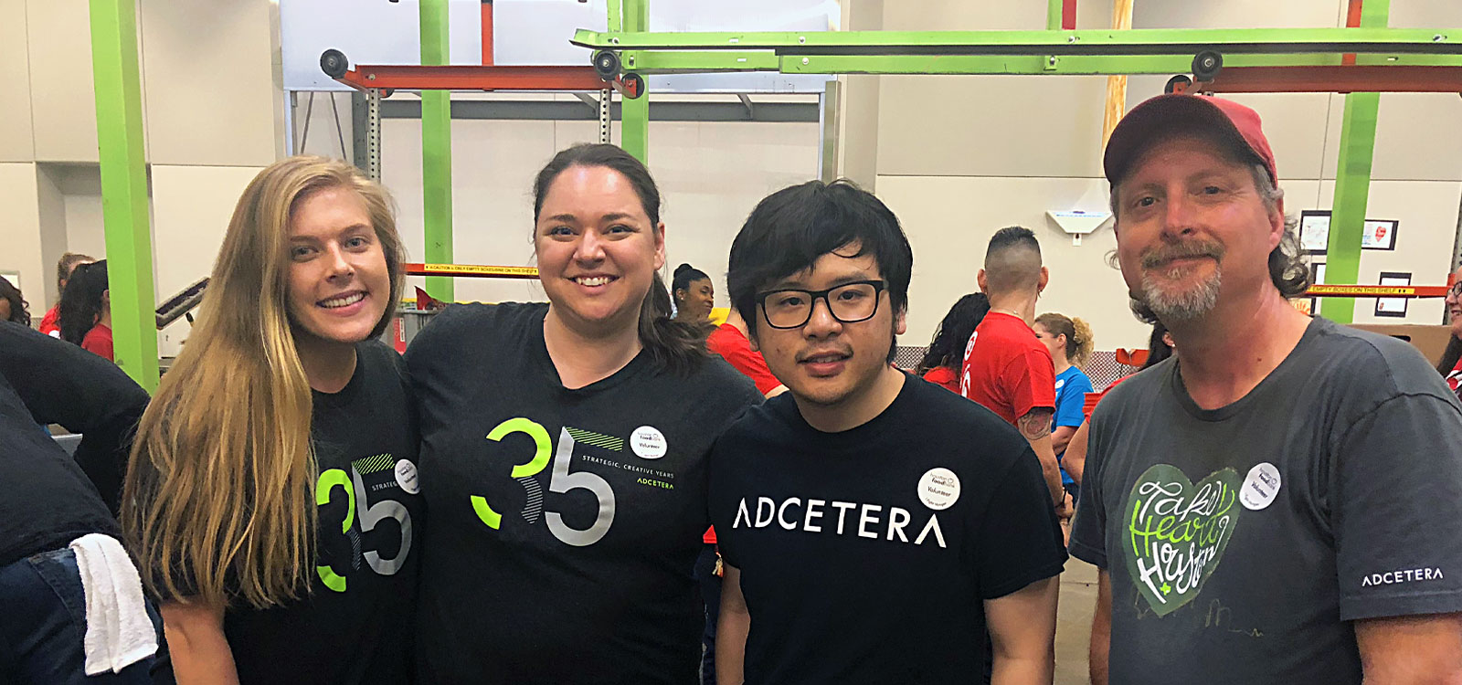 Adcetera staff volunteer at Houston Food Bank