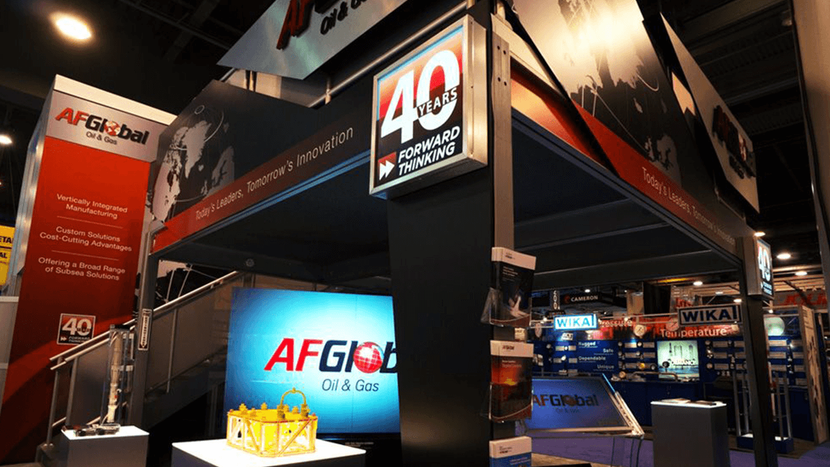 Photo of AF Global booth at expo