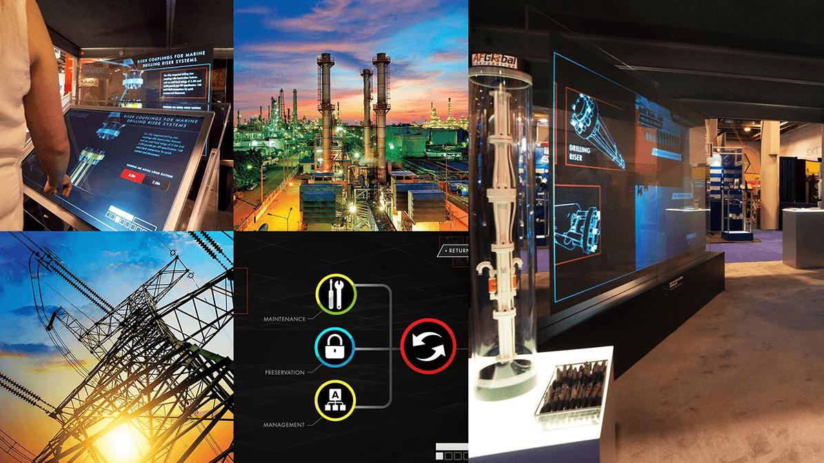 Collage of images made out of digital assets for AF Global