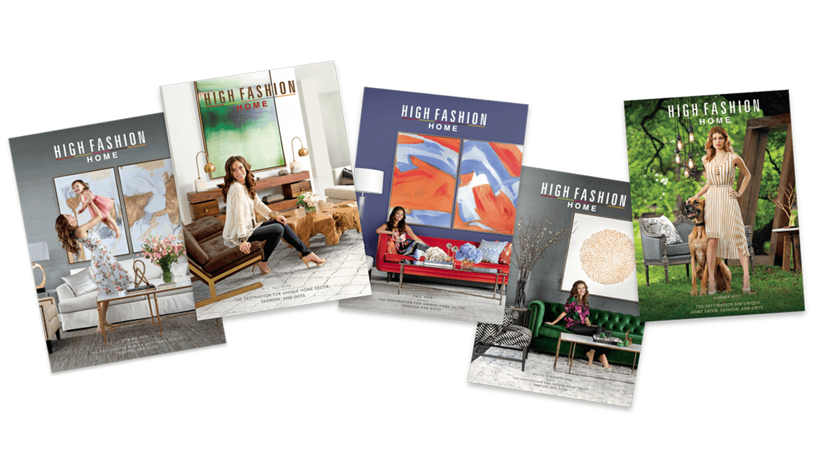 High Fashion Home magazine covers