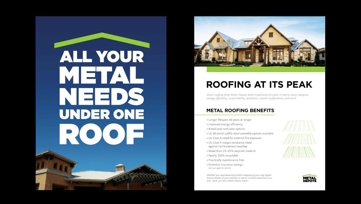 NCI Metal Depots printed brochure mockup