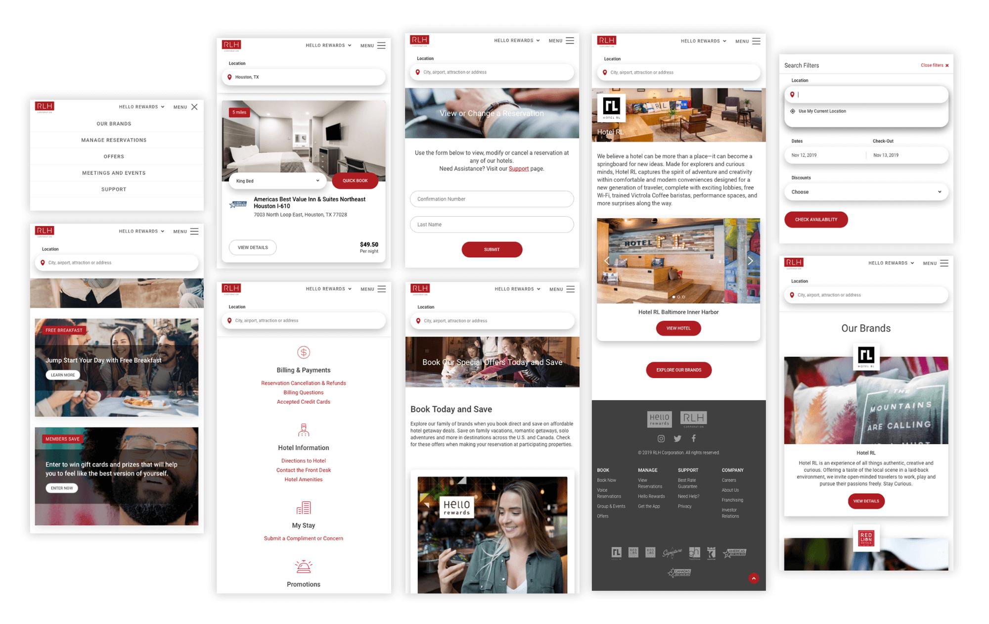 Red Lion Hotels Website